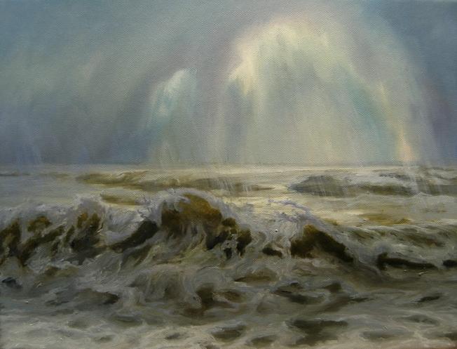 Шторм. Море. Картина маслом. Живопись. В.Бурцева