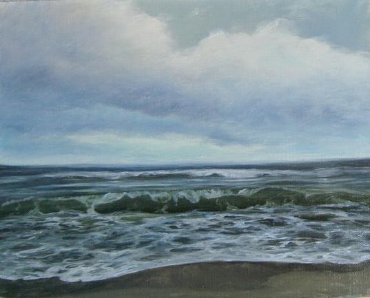 Море.Балтика. Картина маслом. Живопись. В.Бурцева