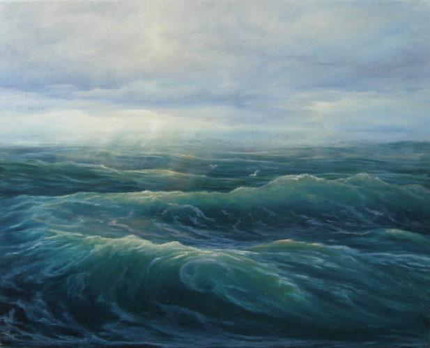 Море. Картина маслом. Живопись. В.Бурцева