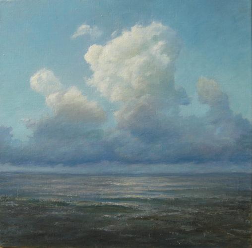 Море. Облака. Картина маслом. Живопись. В.Бурцева