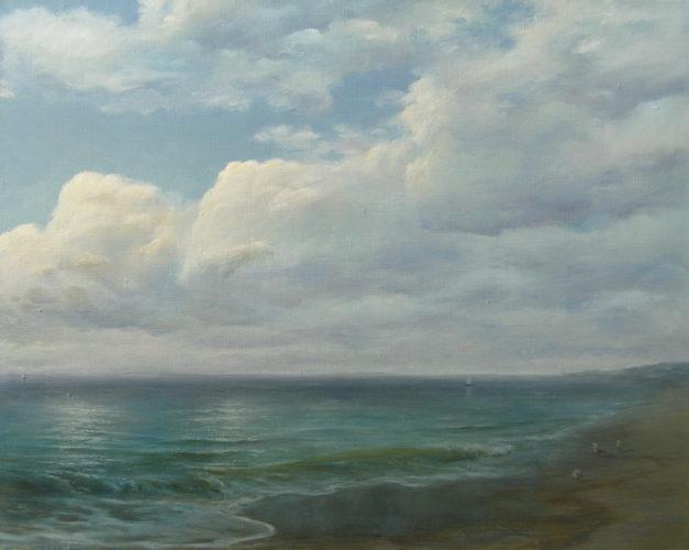 Море. Небо. Картина маслом. Живопись. В.Бурцева