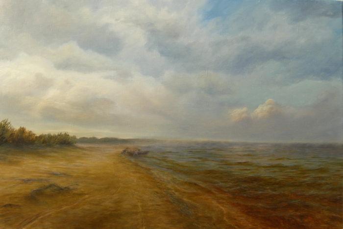 Ладожское озеро. Картина маслом. Живопись. В.Бурцева