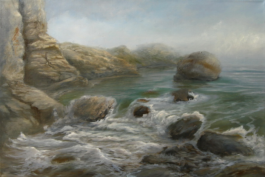 Море перед дождем. Картина маслом. Живопись. В.Бурцева