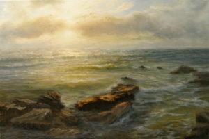 Вечернее солнце на море