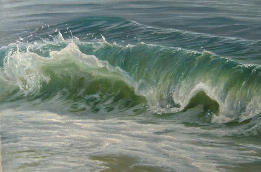Волна. Живопись. В.Бурцева